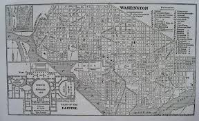Maps Washington Dc by Washington Dc With Plan Of The Capitol Antique Maps And Charts
