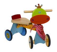 tricycle cartoon dushi 21854 4 wheel wooden walking bike ride on wood amazon canada