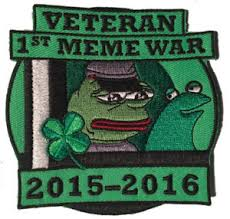 Kek Meme - pepe veteran of first meme war patch pepe frog kekistan shadilay