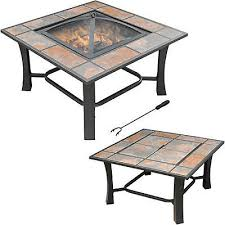 Deck Coffee Table - patio fire pit outdoor backyard deck square tile top convertible