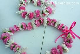 Leis Flowers - how to make a flower lei and headband craft tutorial