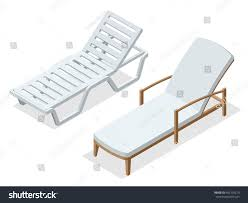 Flat Folding Chair Deck Chair Beach Chaise Longue Flat Stock Vector 402199210