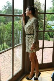 leopard print dress and ballet flats yes please my style