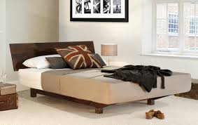 wooden bed floating bed by get laid beds