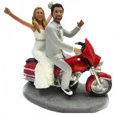 custom wedding cake toppers custom motorcycle wedding cake toppers