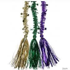 mardi gras deco mesh pgg tassel garlands set mardi gras deco mesh garland