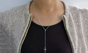 rosary necklace silver images 89 off on italian made rosary necklace groupon goods jpg