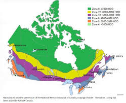 Climate Map Climate Zoneswindows Doors And Skylights Natural Resources Canada