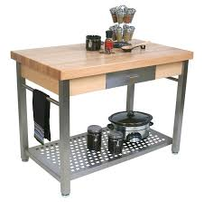 28 stainless steel kitchen island with butcher block top