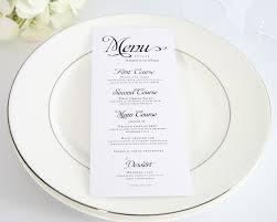 alluring script wedding menus wedding menu classic weddings and