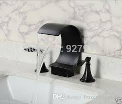 Oil Rubbed Bronze Sink Faucet 2017 Luxury C Shape Waterfall Bathroom Sink Faucet Dual Handle Oil