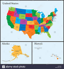 Map Of States With Capitals by The Detailed Map Of The Usa Including Alaska And Hawaii The