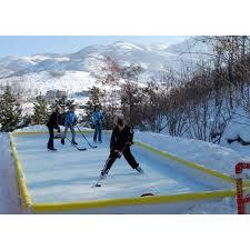 back yard outdoor ice rinks hockeyshot