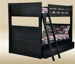 Dillon Black Full Over Full Bunk Bed With Under Bed Trundle - Full over full bunk beds for adults