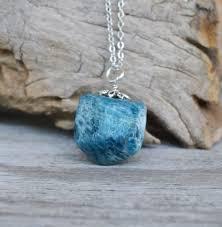 blue stones necklace images Apatite necklace blue stone necklace gem reiki healing stones jpg