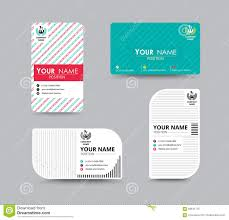 Business Name Email Address by Business Name Card Design For Corporation Card Template Vector