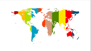 Simple World Map Colorful World Map Video Animation With Labels 1920x1080 Motion