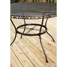 wrought iron outdoor dining table better homes and gardens wrought iron outdoor dining table walmart com