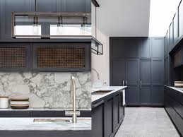 Kitchen Interiors Modern Traditional Kitchen Dark Wood Kitchen Cabinets Marble