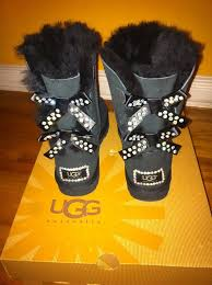 boots sale australia in box ugg australia boots sz8 black bailey bow custom