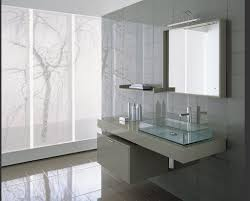 bathroom shining modern bathroom vanities on white ceramics floor