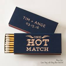 wedding matches one hot match cigar or candle matchboxes wedding favors