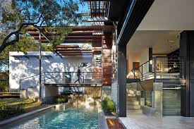 2 Storey House Rancher Morphed Into Sustainable 2 Storey House With Bridged Pool
