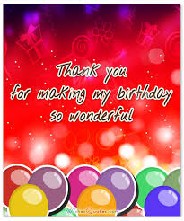 thank you messages for coming to my birthday