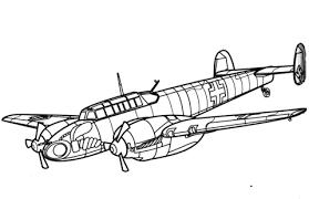 messerschmitt bf 110 heavy fighter aircraft coloring free