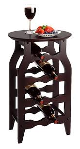 amazon com winsome wood oval wine rack espresso kitchen u0026 dining