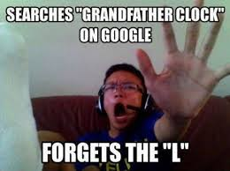 Mad Memes - searches for grandfather clock on google mad cow club meme