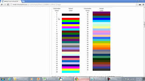 changing gridlines color using color index in excel 2010 with