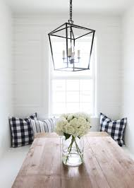 Kitchen Nook Lighting Farmhouse Kitchen Nook Studio Mcgee Farmhouse Table And