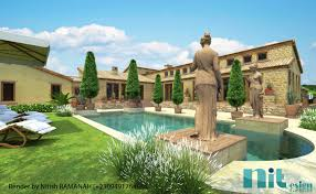 Tuscany House by Sketchup Texture 3d Render Challenge Winners Tuscany House