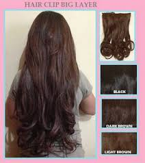 hair clip rambut asli jual hair clip big layer and curly bellezzeshop