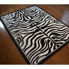 shag plush black and ivory zebra print area rug 5 u0027 x 7 u00272 free