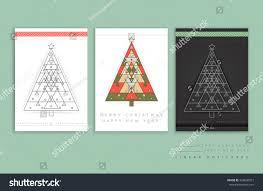 merry christmas modern vector modern card abstract linear geometry stock vector 524600917