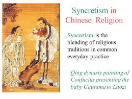 syncretism in religion qing dynasty painting of confucius