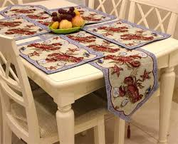 table runner placemat set set of 1 table runner and 4 placemats the crab starfish pattern