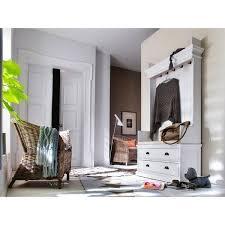 novasolo halifax mahogany entryway coat rack and storage bench