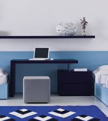 white walls home decor awesome home office with blue white wall decor simple blue desk