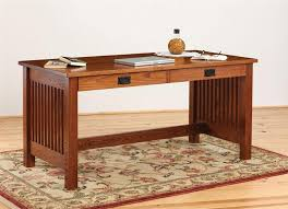 Small Wood Writing Desk Mission Style Solid Oak Office Computer Amish Mission