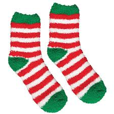 fuzzy christmas socks amscan 13 5 in striped christmas fuzzy socks 2 count 4 pack