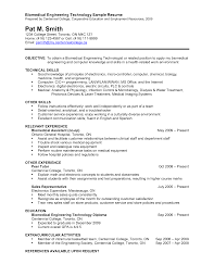 Computer Technician Resume Template Brilliant Ideas Of Biomedical Technician Resume Sample In Form
