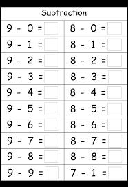 subtraction 4 worksheets printable worksheets pinterest