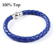 blue leather bracelet images Online shop 2015 new fashion royal blue leather bracelet for men jpg