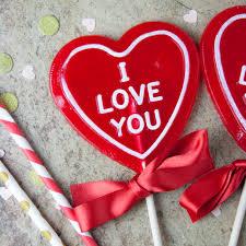 heart lollipop strawberry prosecco i you heart shaped lollipop s