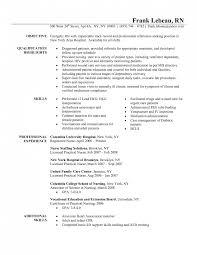 Resume Templates For Nursing Jobs Resume Template Nursing Saneme