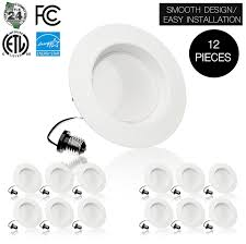 easy install recessed lighting parmida pled dn410 5w2700kdim 4 inch led downlight trim 10 5w