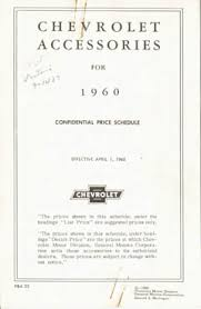 1960 chevrolet advertising literature